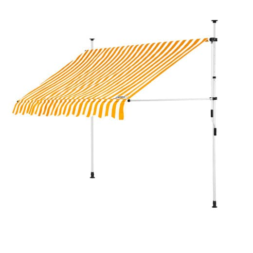 Clamp Awning Yellow/White 6.5ft