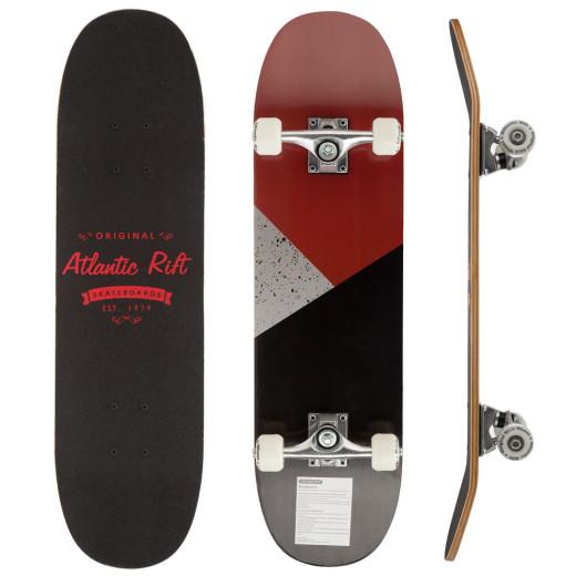 Skateboard - ABEC 9 Lager - PU Dämpfer + PU Rollen - Rot/Schwarz