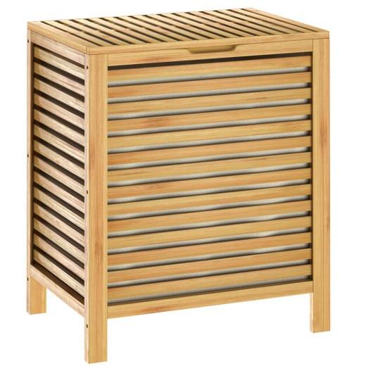 Bambus Wäschekorb mit 62L Volumen