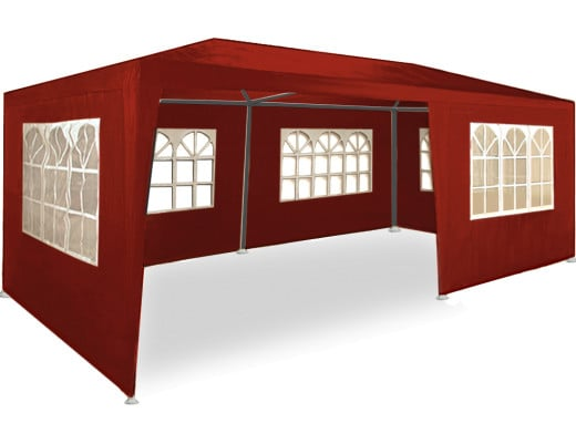 Festzelt in Rot 3x6m UV-Schutz 50+
