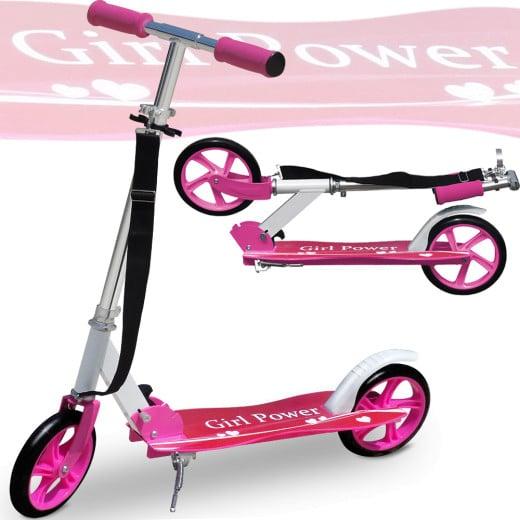 "Funsport Scooter ""Girl Power"" - klappbar inkl. Umhängegurt"