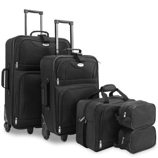 Koffer Set 5-tlg. Schwarz