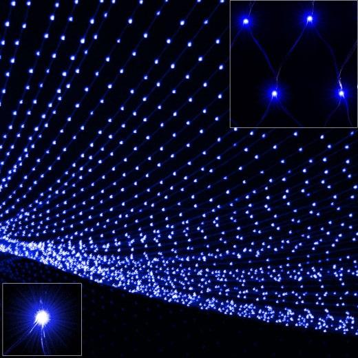 Netzlichterkette 100 LED blau 120 x 120cm