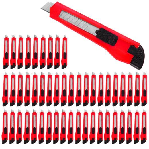 50x Cuttermesser mit Abbrechklingen 9mm