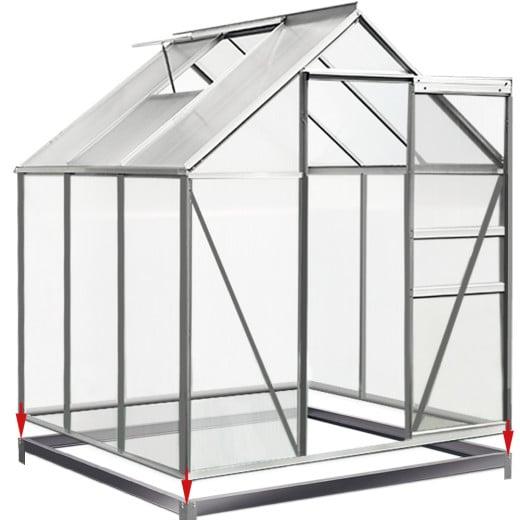 Stahlfundament für Gewächshaus 190x190 cm