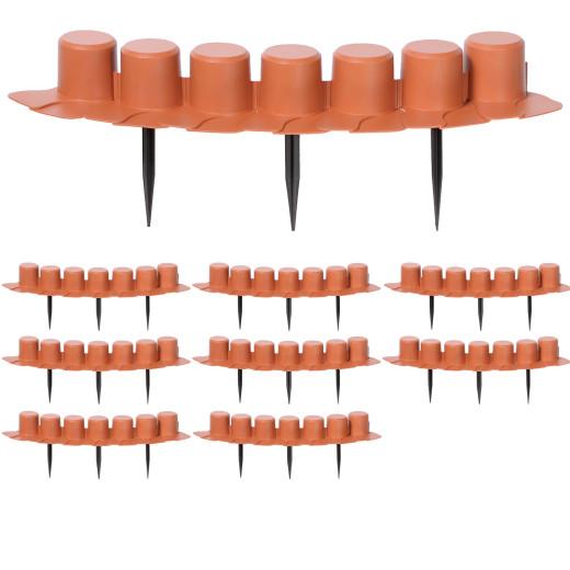 Beeteinfassung 4er-Set Terrakotta 16,20m