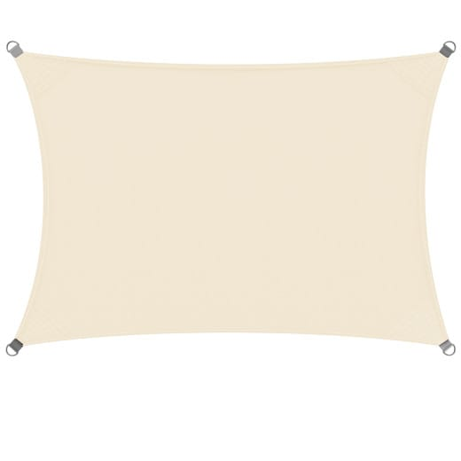 Sonnensegel Oxford Rechteck Creme 2x4m
