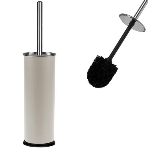Toilettenbürste mit Behälter in weiß