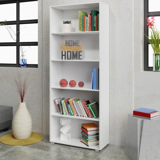 Bücherregal »Vela« in Weiß mit 5 Fächern