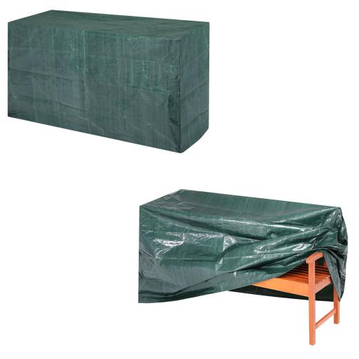 Abdeckung 3-Sitzer Gartenbank Grün 162x65x88cm