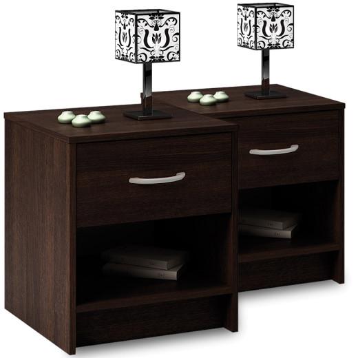 Nachttisch mit Schublade in Wenge-Optik
