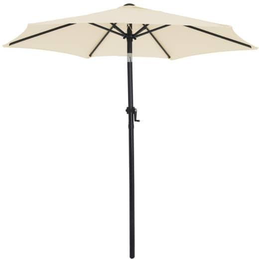 Sonnenschirm Beige Ø200cm UV-Schutz 50+