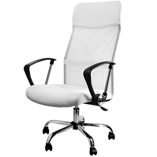 Bürostuhl mit Netz in weiß