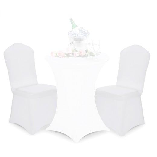 2x Stuhlhussen in weiß