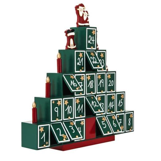 "Adventskalender ""Pyramide"" zum Selbstbefüllen, Holz"