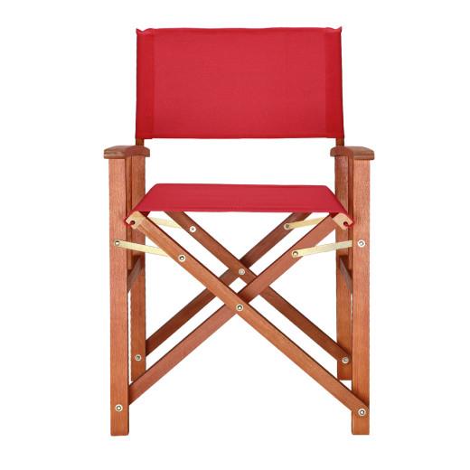 """Regiestuhl """"Cannes"""" in Rot Eukalyptus Holz"""