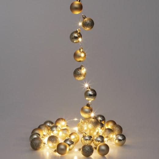 Lichterkette LED Gold 2m Kugeln