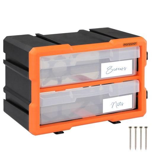 Kleinteileorganizer MW1802 29,5x16x19,5cm 2 Fächer