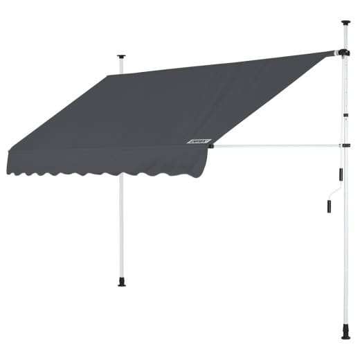 Clamp Awning Anthracite 8ft