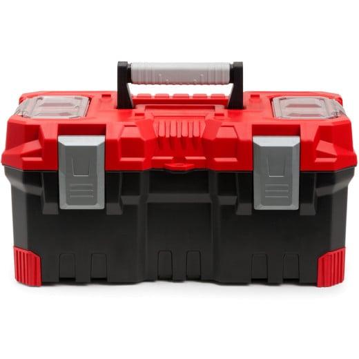 Werkzeugkoffer - schwarz/rot - 490x260x240mm