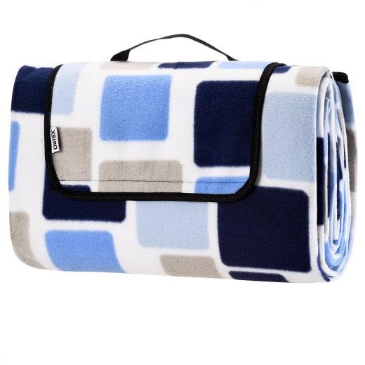 Picknickdecke Quadrate/Blau 2x2m