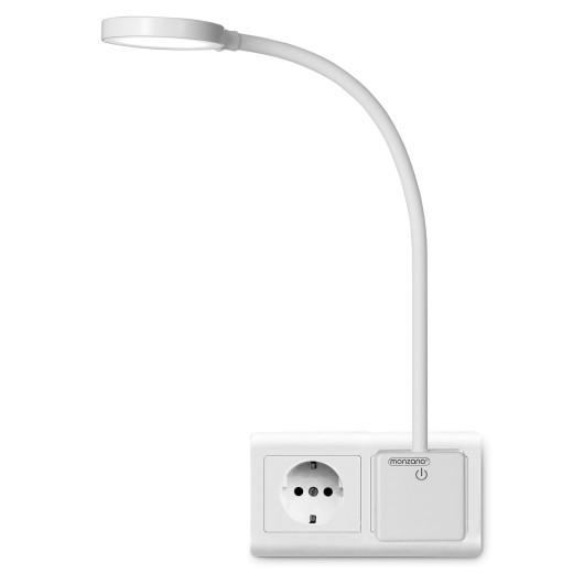 Nachttischlampe in weiß