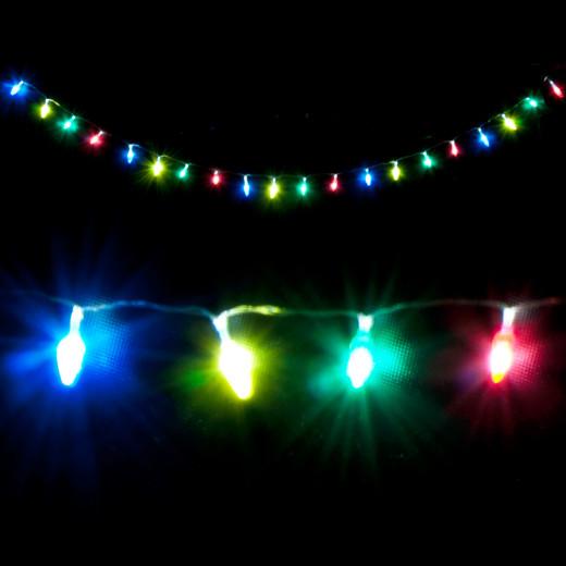 LED Lichterkette in Tannenzapfen-Form