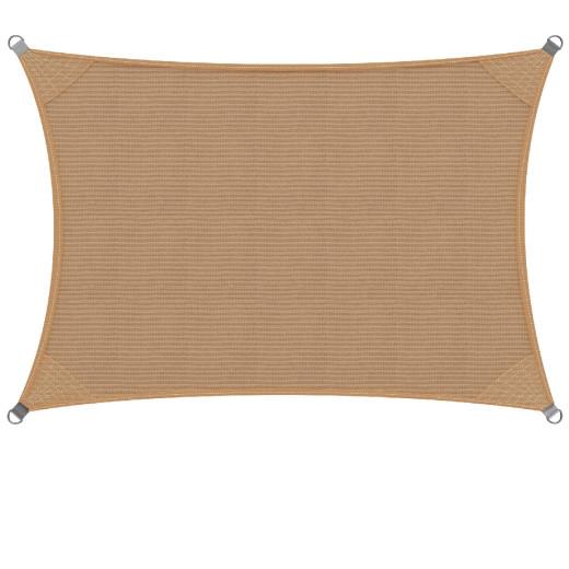 Sonnensegel HDPE Rechteck Sand 3x4m
