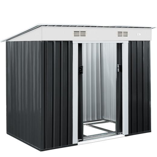 Gerätehaus Anthrazit Metall 196x122x180 cm
