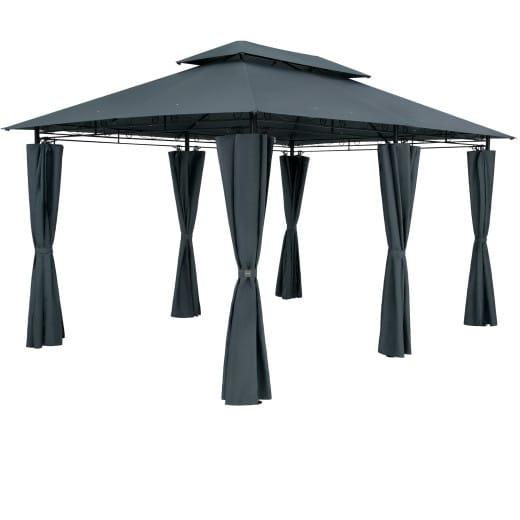 Pavillon Topas Anthrazit 3x4m UV-Schutz 50+